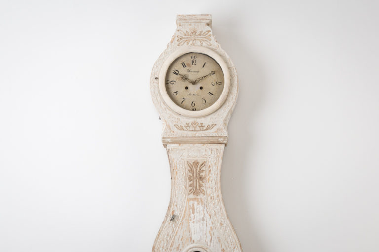 Neoclassical Long Case Clock with Light Paint