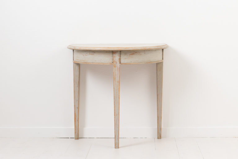 Single Demi Lune Table from Northern Sweden