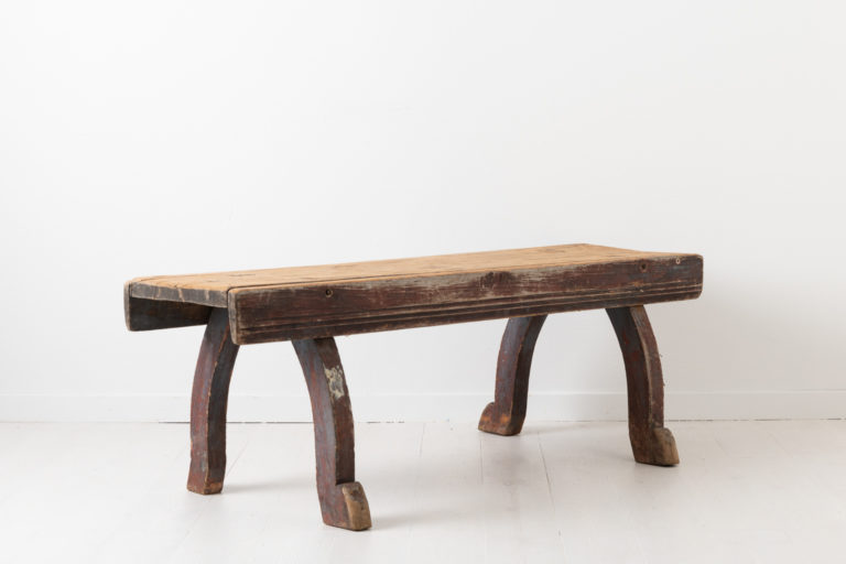 Late 18th Century Bench in Folk Art from Sweden
