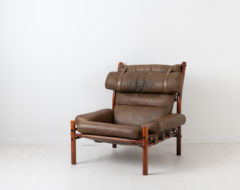 Arne Norell Inca Armchair from the mid 20th century. Handmade by Norell Möbler in their factory in Småland with exclusive Scandinavian leather