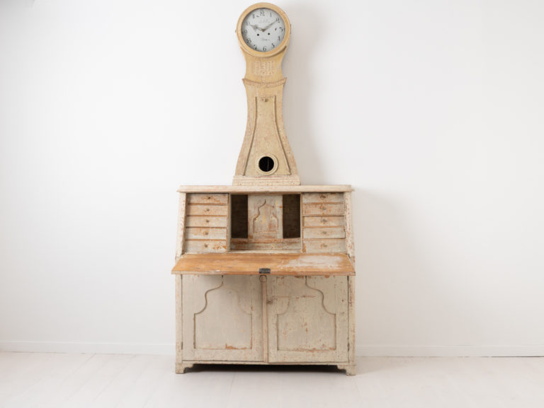 Antique Clock Secretary from Northern Sweden
