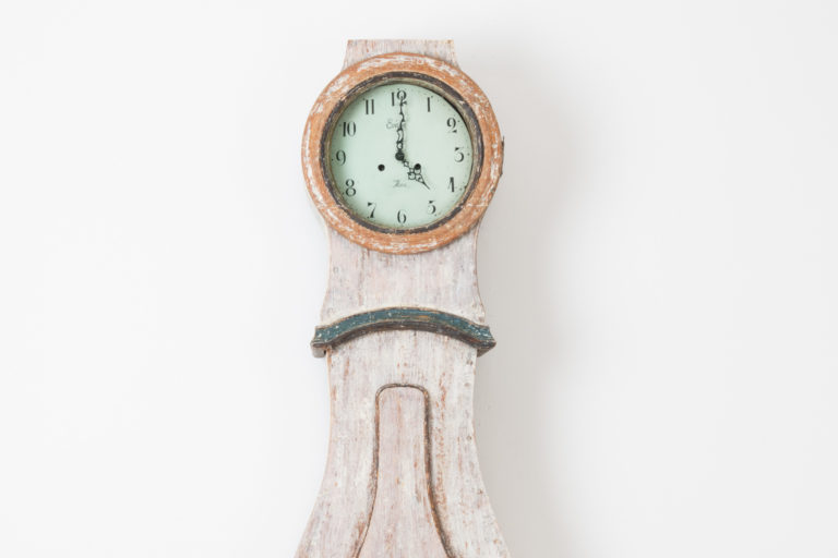Swedish Long Case Clock Made in Painted Pine