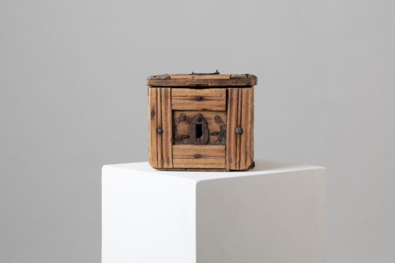 Folk Art Box in Pine from Northern Sweden