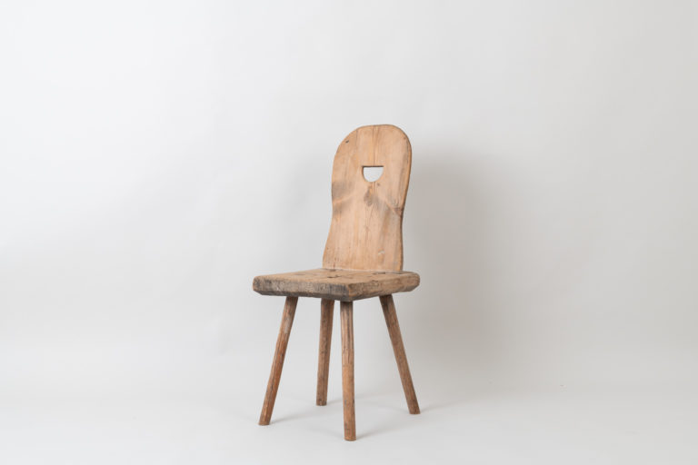 Primitive Folk Art Chair from Northern Sweden