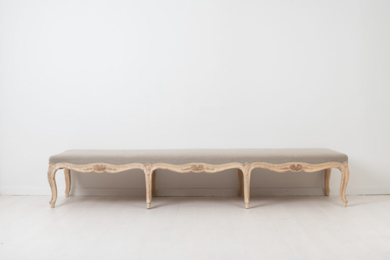 Rococo Revival Bench from Sweden around 1890