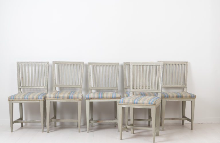Set of 6 Chairs in Gustavian Style from Sweden
