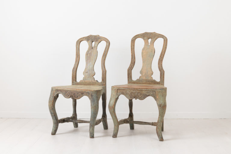 Charming Rococo Chairs from Northern Sweden