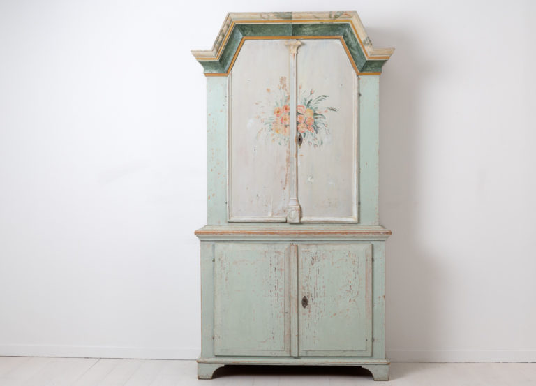 Swedish Country Furniture Cabinet Dated 1845