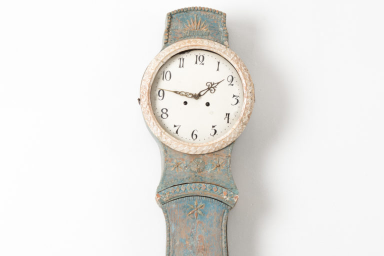 Northern Swedish Mora Clock in Rococo Style