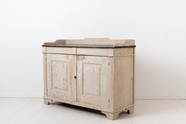 White Gustavian Sideboard from Northern Sweden