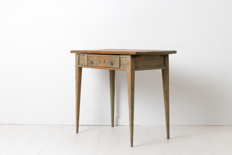 Slim Gustavian Side Table from Northern Sweden