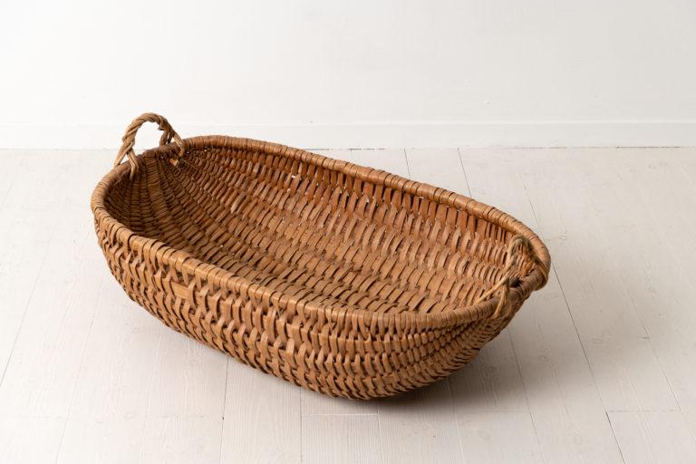 Northern Swedish Country Basket 19th Century