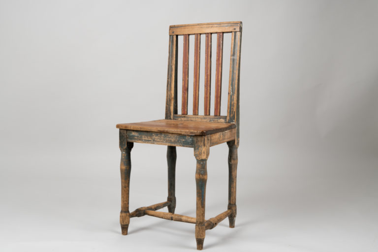 Swedish Gustavian Chair with Black Paint