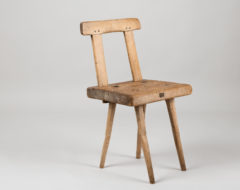 Rustic folk art chair from northern Sweden. The chair is charming in its simplicity with the rustic model and wood bare surface.