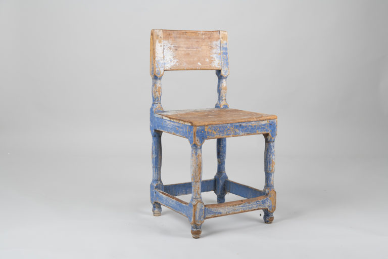 Blue Baroque Styled Chair from the 19th Century