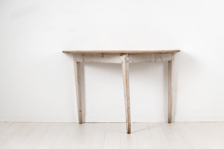 Gustavian Demi Lune Table from Northern Sweden