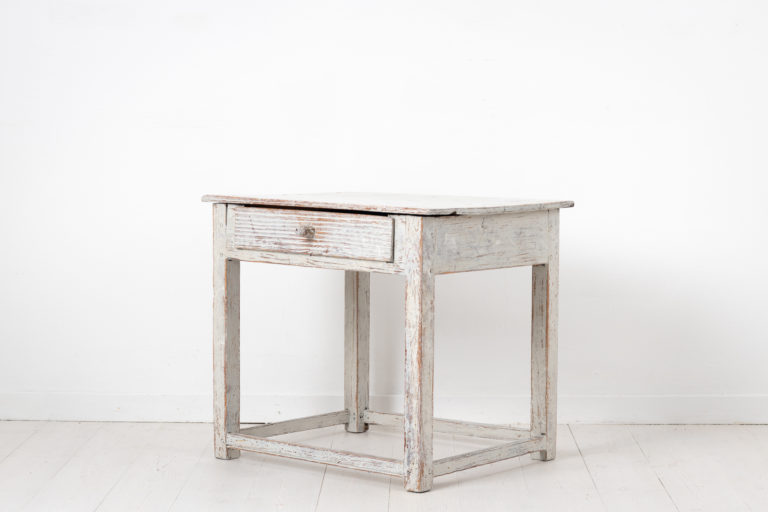 Swedish Country Console Table in Light Grey