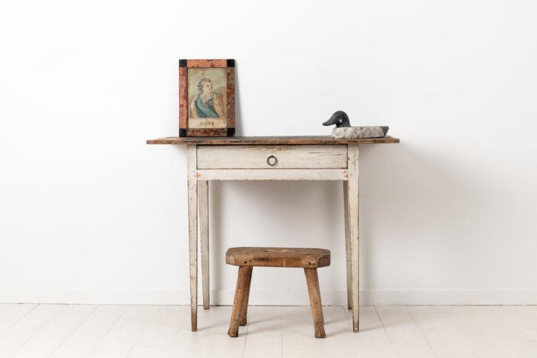 White Gustavian Desk from Sweden in Pine