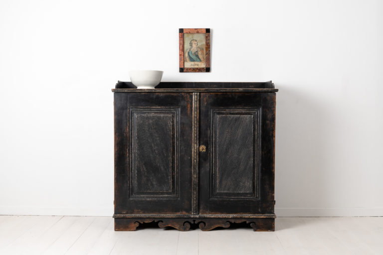 Black Gustavian Sideboard from Sweden