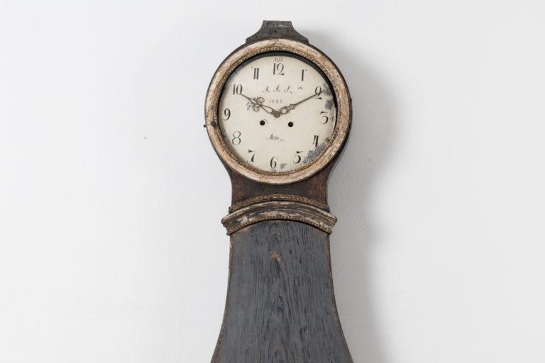 Swedish Rococo Longcase Clock with Original Paint