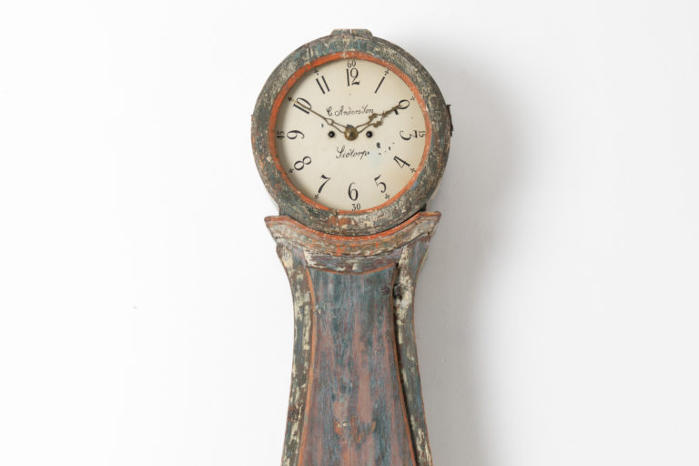 Swedish Long Case Clock with Rococo Influences