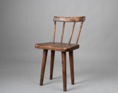 Folk art pine chair from Sweden made during the mid 1800s.   For more Seating