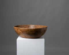 Birch root bowl of unusually good quality with dense grain and an untouched original patina which can only be obtained after 200 years of use