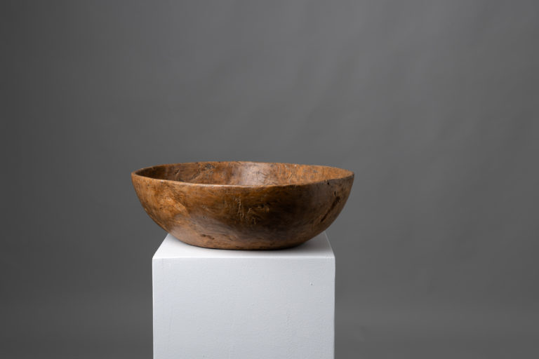 Large Birch Root Bowl of Unusually Good Quality