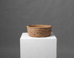 Folk art cheese basket in birch root from Northern Sweden. The basket is early 19th century and was used for making cheese. Good condition.