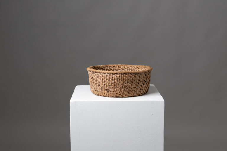 Folk Art Cheese Basket in Birch Root from Northern Sweden