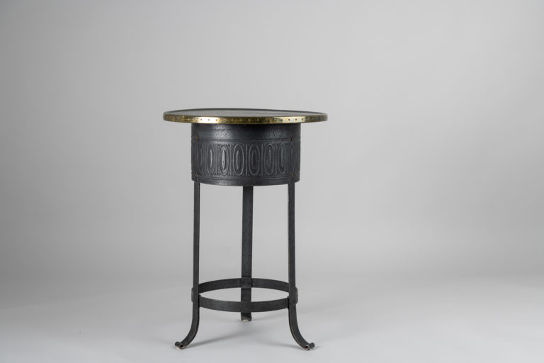 Swedish Art Deco Table in Metal and Brass