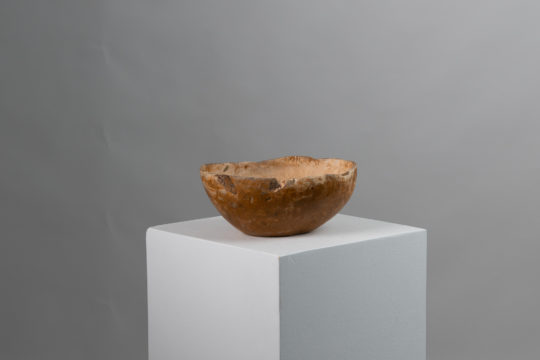 Organically shaped wood bowl from northern Sweden. The bowl is from the mid 19th century and is quite deep, more than enough for a few fruits