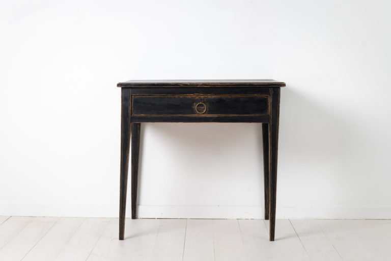 Black Gustavian and Neoclassic Table