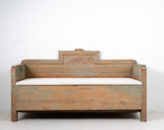 Early Swedish country sofa. The straight shape and restrained decor was common during the late 1700s in northern Sweden where the sofa is from