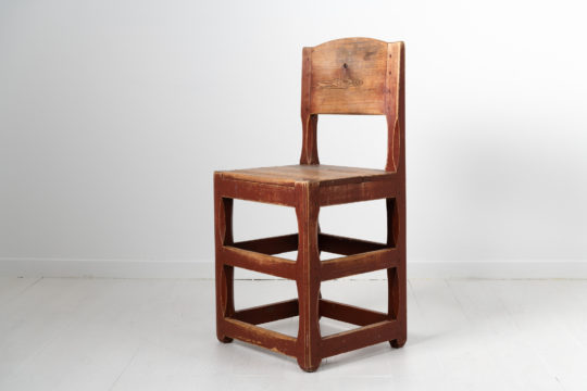 Northern Swedish country chair from the early 1800s. The chair is a renaissance model as the style lived on for centuries