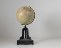 """Unusually large antique globe from the early 20th century. The globe is a freestanding floor model and marked """"Svenska Bokhandelscentralens Glob"""
