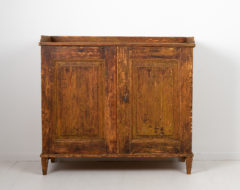 Genuine Swedish gustavian sideboard from the 1790s to 1800. The sideboard is from Northern Sweden, made in pine and painted with old historic pain