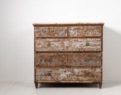 Gustavian chest on chest bureau from Hälsingland in Northern Sweden. The chest is from the late 18th century, 1780 to 1790 and made in pine.